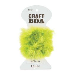 Darice Feather Craft Boa - Lime Green, 2 yds