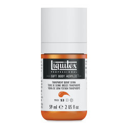 Liquitex Soft Body Artist Acrylics - Transparent Burnt Sienna, 59 ml bottle