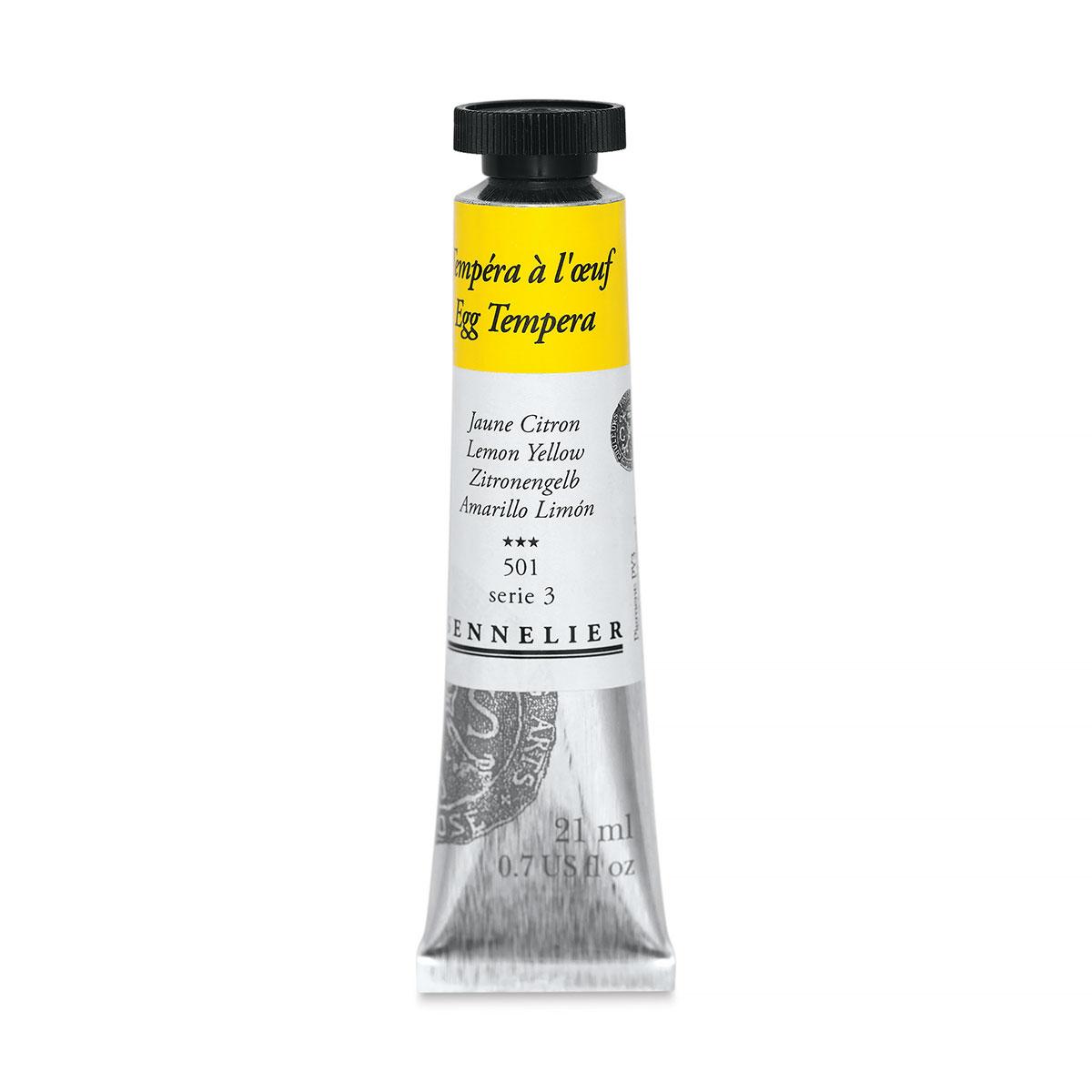 Sennelier Artists Egg Tempera - Lemon Yellow, 21 ml tube