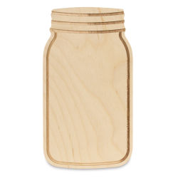 Walnut Hollow Birch Wood Shape - Mason Jar