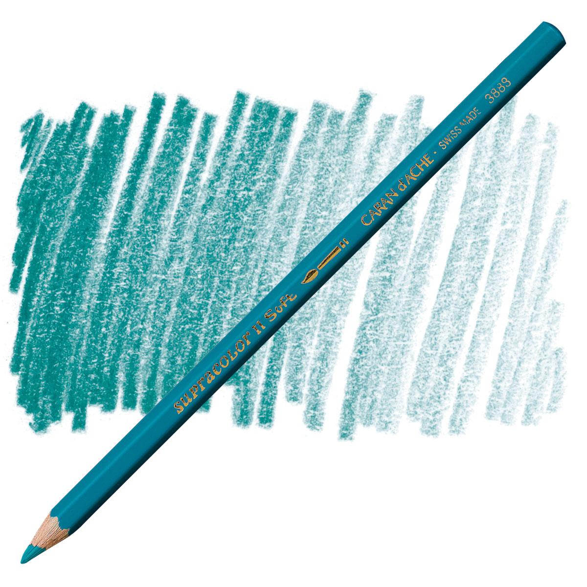 Caran d/'Ache Supracolor Soft Watersoluble Pencil Empire Green