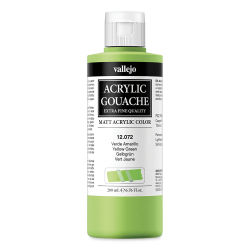Vallejo Acrylic Gouache - Yellow Green, 200 ml