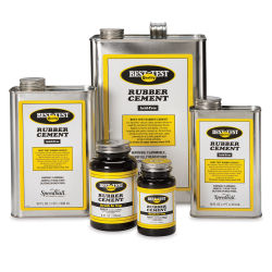 Best-Test Rubber Cement - 4 oz, Metal Can with Brush