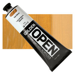 Golden Open Acrylics - Raw Sienna, 5 oz Tube with Swatch