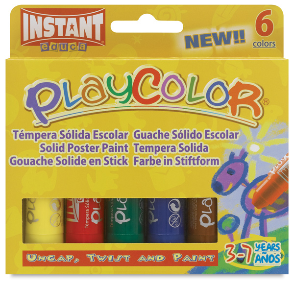 Playcolor - Standard Colors, Set of 6, Standard Size