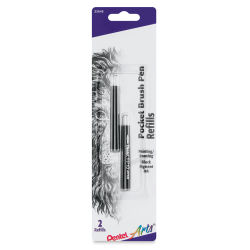 Pentel Pocket Brush Pen Refills - Pkg of 2, Black