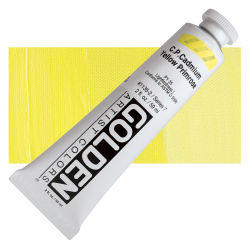 Golden Heavy Body Artist Acrylics - Cadmium Yellow Primrose, 2 oz Tube