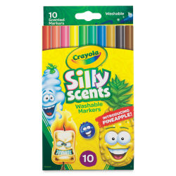 Crayola Silly Scents Washable Markers - Slim, Set of 10