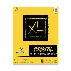 Canson XL Bristol - Pad, 11'' x 14'', Vellum, 25 Sheets, Tapbound