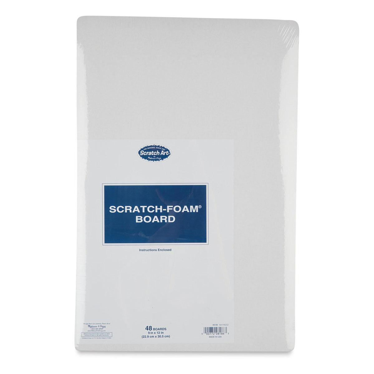 Scratch-Art Scratch-Foam Board Pack - 9 x 12, Pkg of 48