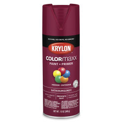 Krylon Colormaxx Spray Paint - Burgundy, Satin, 12 oz