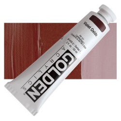 Golden Heavy Body Artist Acrylics - Violet Oxide, 2 oz Tube
