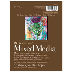 "Strathmore 400 Series Mixed Media Pad - 6"" x 8"", 15 Sheets"