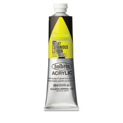 Holbein Heavy Body Artist Acrylics - Luminous Lemon, 60 ml tube