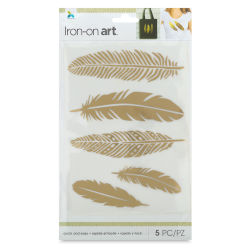 Momenta Iron-On Art - Gold Foil Feathers