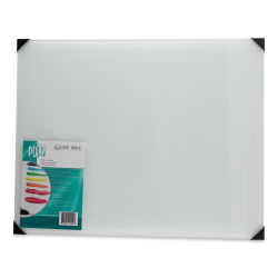 New Wave Posh Glass Tabletop Palette - 16'' x 20'', White