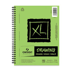 Canson XL Drawing Pad - 8-1/2'' x 5-1/2'', Wirebound Side, 60 Sheets