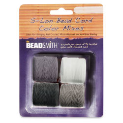 Beadsmith S-Lon Cord Pack - Pkg of 4, Basic Colors