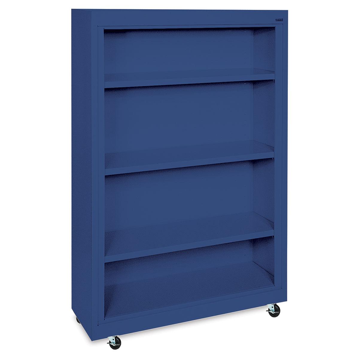 Sandusky Lee Mobile Bookcase - 36 x 58 x 18, Blue