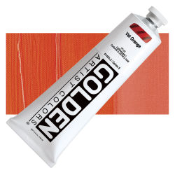 Golden Heavy Body Artist Acrylics - Vat Orange, 5 oz tube