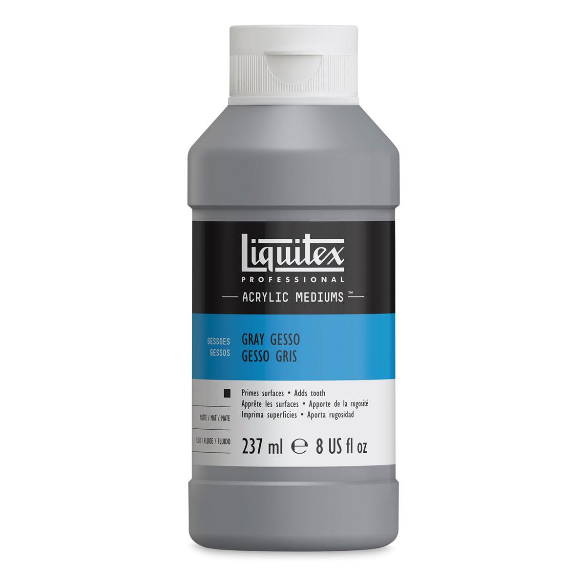 Liquitex Acrylic Gesso - Neutral Gray, 8 oz bottle