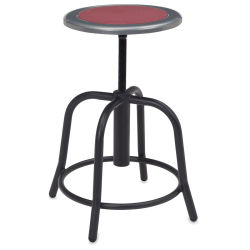 National Public Seating Designer Swivel Stool - Black Frame/Burgundy Seat