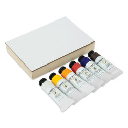 Shiva Signature Artist Oil Color - Set of 6 with Cradled Panel