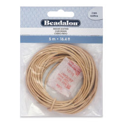 Beadalon Leather Cord - 2 mm x 5 meters, Natural