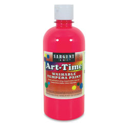 Sargent Art-Time Washable Tempera - 16 oz, Pink