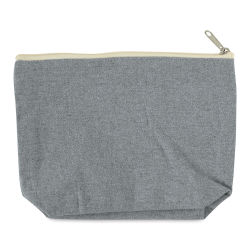Recycled Canvas Zipper Pouch - With Gusset, 7''L × 10''W × 3''D