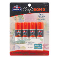 Elmer's Craft Bond Extra Strength Glue Sticks, Package of 4