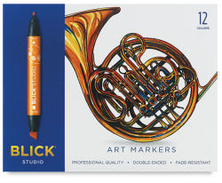 Blick Studio Markers Set of 12. In package.