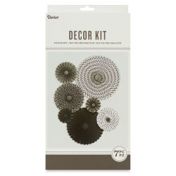 Paper Rosettes Kit - Black, Pkg of 7