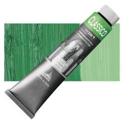 Maimeri Classico Oil Color - Permanent Green Light, 200 ml tube