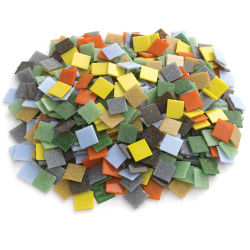 Mosaic Studio Venetian Glass Tiles - 3/4'', Assorted Colors, 3 lb