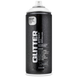 Montana Glitter Effect Spray Paint - Glitter Silver, 11 oz Can