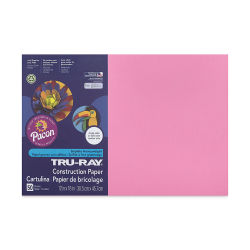 Pacon Tru-Ray Construction Paper - 12'' x 18'', Shocking Pink, 50 Sheets