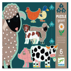 Djeco Primo Progressive Puzzles- Honoré and Friends box