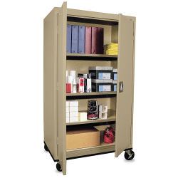 "Mobile General Storage Cabinet - 36'' x 24'' x 66"", Topic Sand"