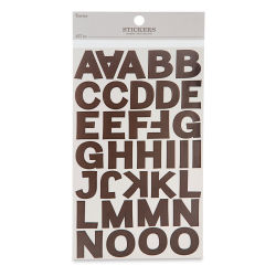 Alphabet Letter Stickers - Black