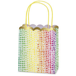 Paper Source Gift Bag Set - Rainbow Dots, Pkg of 8