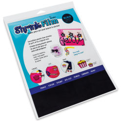 Grafix Shrink Film - 8.5'' x 11'', Shrink Film, Black, 6 Sheets