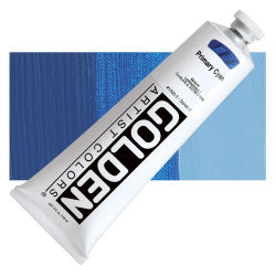 Golden Heavy Body Artist Acrylics - Primary Cyan, 5 oz Tube
