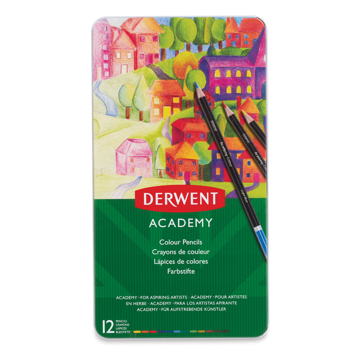 Derwent Academy Colouring Pencils tin of 24