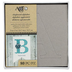 Art-C Chipboard Alphabet Stencil Set