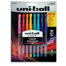 Uni-Ball Gel Pens - Pkg of 8