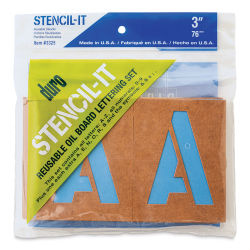 Oil Board Lettering Stencils - 3'' Set