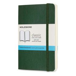 "Moleskine Classic Soft Cover Notebook - Metallic Green, Dotted, 5-1/2"" x 3-1/2"""