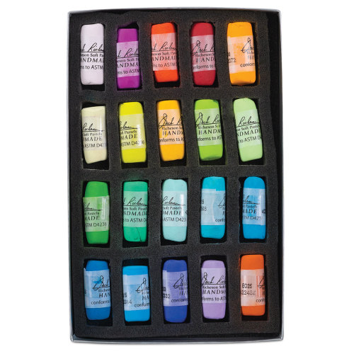 Richeson Soft Handrolled Pastels - Color Wheel, Vibrant, Set of 20