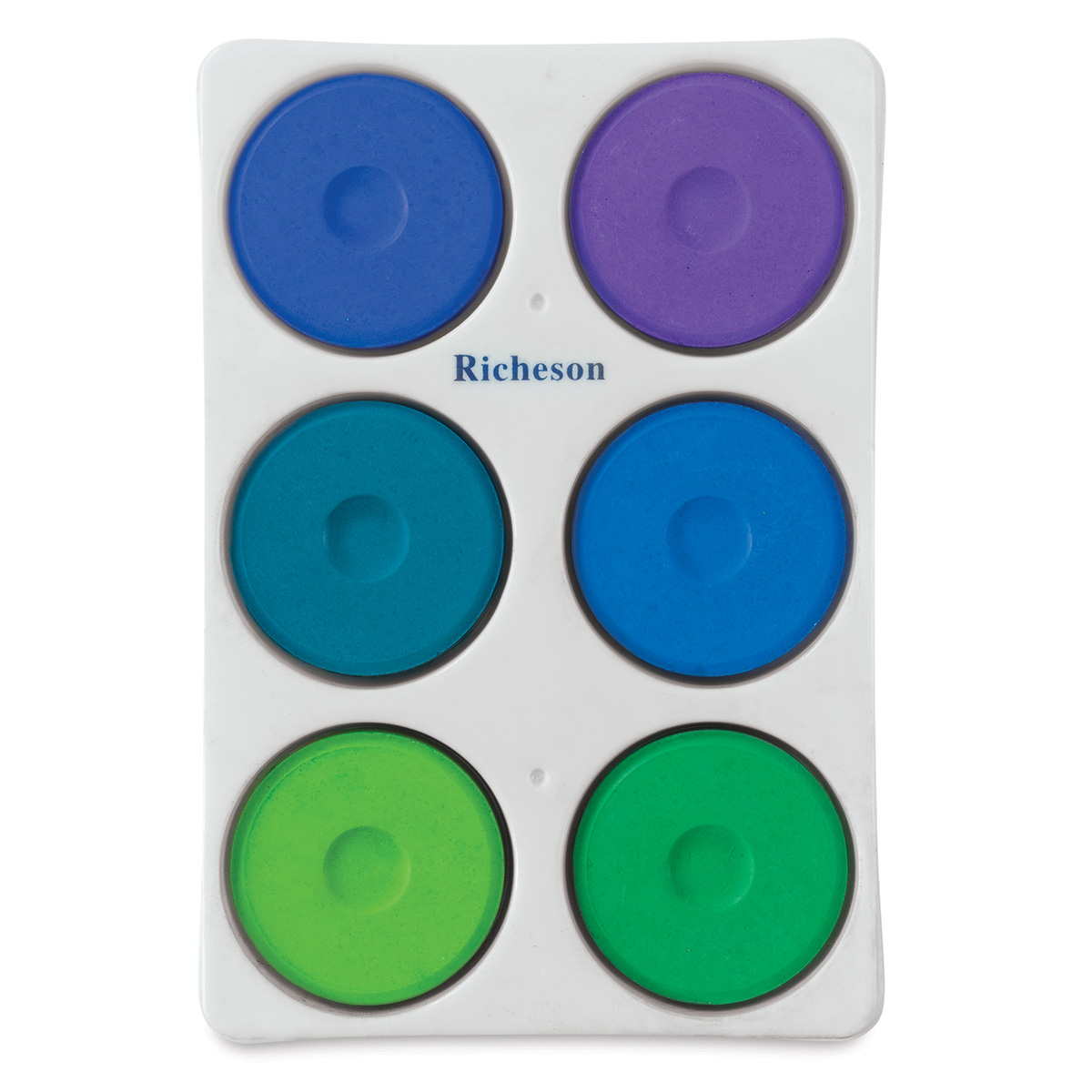 Richeson Tempera Cakes and Sets - Set of 6 Cool Colors